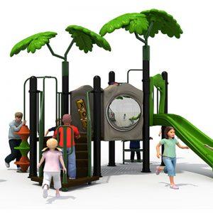 Jungle speeltuin met glijbaan