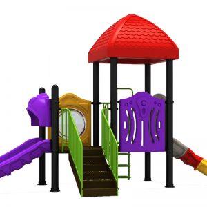 Speeltoren speeltuin met 2 glijbanen