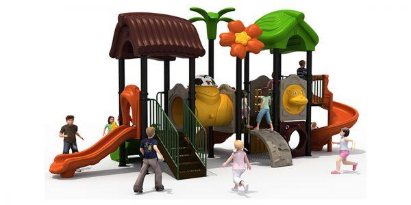 Forest speeltuin met tunnel