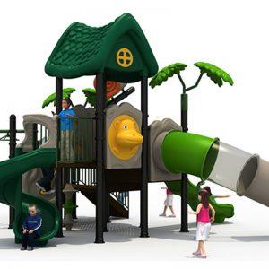 Forest speeltuin met 3 glijbanen
