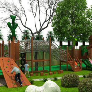 Houten forest speeltuin