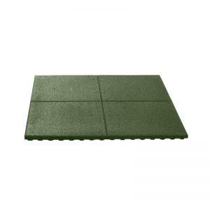 Groene Rubberen tegel 20 mm