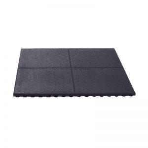 Zwarte Rubberen tegel 20 mm