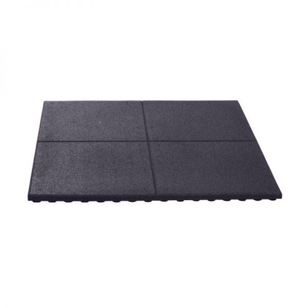 zwarte rubberen tegel
