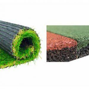 Kunstgrassen & Rubberen tegel