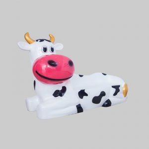 Koe zitbank in fiberglass