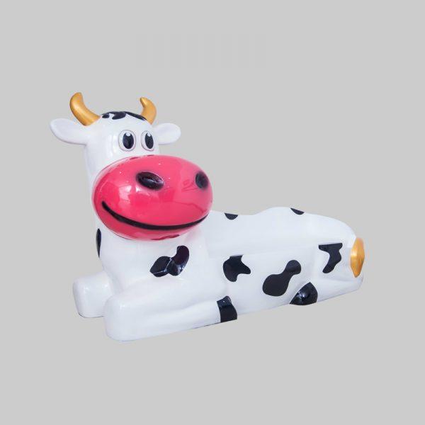 Zitbank koe fiberglass