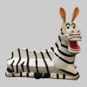 Zebra zitbank in fiberglass